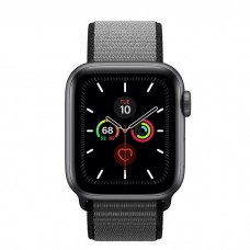 Apple Watch Series 5 40mm Space Gray Aluminium Case with Anchor Gray Sport Loop (MWTQ2)