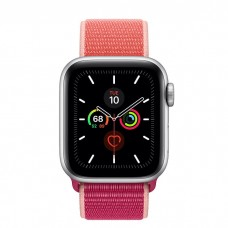 Apple Watch Series 5 40mm Silver Aluminium Case with Pomegranate Sport Loop (MWTR2)