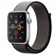 Apple Watch Series 5 44mm Silver Aluminium Case with Anchor Gray Sport Loop (MWTY2)