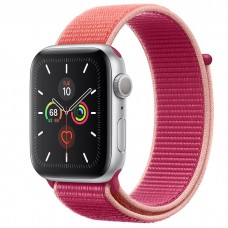 Apple Watch Series 5 44mm Silver Aluminium Case with Pomegramate Sport Loop (MWU02)