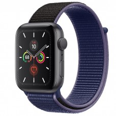 Apple Watch Series 5 44mm Space Gray Aluminium Case with Midnight Blue Sport Loop (MX3Q2)