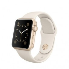 Watch Sport 38mm Gold Aluminum Case with Antique White Sport Band (MLCJ2)