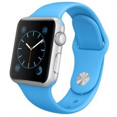 Watch Sport 38mm Silver Aluminum Case with Blue Sport Band (MJ2V2)