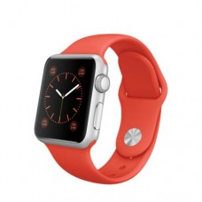 Watch Sport 38mm Silver Aluminum Case with Orange Sport Band (MLCF2)