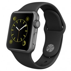 Watch Sport 38mm Space Gray Aluminum Case with Black Sport Band (MJ2X2)