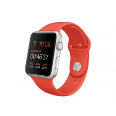 Watch Sport 42mm Silver Aluminum Case with Orange Sport Band (MLC42)