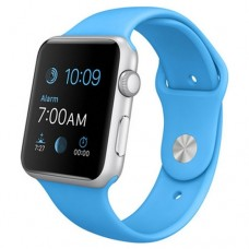Watch Sport 42mm Silver Aluminum Case with Blue Sport Band (MJ3Q2)