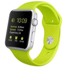 Watch Sport 42mm Silver Aluminum Case with Green Sport Band (MJ3P2)