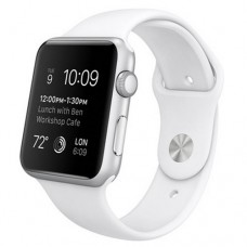 Watch Sport 42mm Silver Aluminum Case with White Sport Band (MJ3N2)