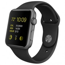 Watch Sport 42mm Space Gray Aluminum Case with Black Sport Band (MJ3T2)
