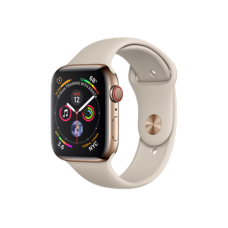 Apple Watch Series 4 GPS + Cellular 44mm Gold Stainless Steel Case with Stone Sport Band (MTV72)
