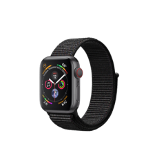Apple Watch Series 4 GPS + Cellular 40mm Space Gray Aluminum Case with Black Sport Loop (MTUH2)