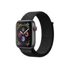 Apple Watch Series 4 GPS + Cellular 44mm Space Gray Aluminum Case with Black Sport Loop (MTUX2)