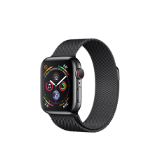Apple Watch Series 4 GPS + Cellular 40mm Space Black Stainless Steel Case with Space Black Milanese Loop (MTUQ2)