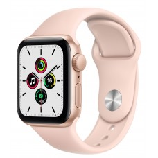 Apple Watch SE 44mm Gold Aluminum Case with Pink Sand Sport Band (MYDR2)