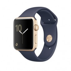 Apple Watch Series 1 42mm Gold Aluminum Case with Midnight Blue Sport Band MQ122