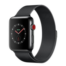Apple Watch 42mm Series 3 GPS + Cellular Space Black Stainless Steel Case with Space Black Milanese Loop (MR1L2)