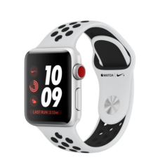 Apple Watch Nike+ 38mm Series 3 GPS Silver Aluminum Case with Pure Platinum/Black Nike Sport Band (MQKX2)