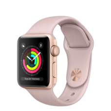 Apple Watch 42mm Series 3 GPS Gold Case with Pink Sand Sport Band (MQL22)
