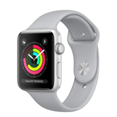 Apple Watch 42mm Series 3 GPS Silver Aluminum Case with Fog Sport Band (MQL02)