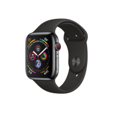 Apple Watch Series 4 GPS + Cellular 44mm Space Black Stainless Steel Case with Black Sport Band (MTV52)