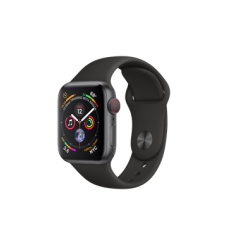 Watch Series 4 GPS + Cellular 40mm Space Gray Aluminum Case with Black Sport Band (MTUG2)