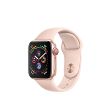 Apple Watch Series 4 GPS + Cellular 40mm Gold Aluminum Case with Pink Sand Sport Band (MTUJ2)