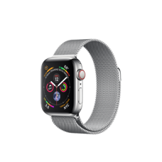Watch Series 4 GPS + Cellular 40mm Stainless Steel Case with Milanese Loop (MTUM2)
