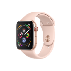 Watch Series 4 GPS + Cellular 44mm Gold Aluminum Case with Pink Sand Sport Band (MTV02)