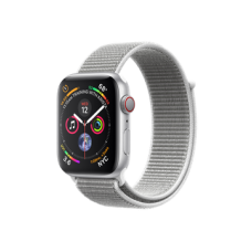 Watch Series 4 GPS + Cellular 44mm Silver Aluminum Case with Seashell Sport Loop (MTUV2)