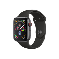 Watch Series 4 GPS + Cellular 44mm Space Gray Aluminum Case with Black Sport Band (MTUW2)