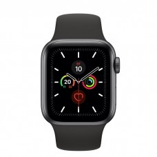 Apple Watch Series 5 40mm Space Gray Aluminium Case with Black Sport Band (MWV82)