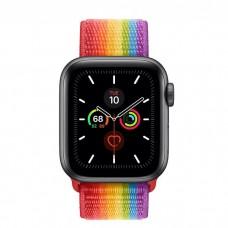 Apple Watch Series 5 40mm Space Gray Aluminium Case with Pride Sport Loop (MV9Q2)