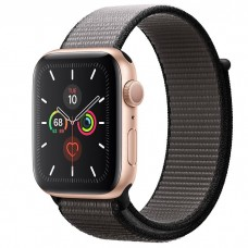 Apple Watch Series 5 44mm Gold Aluminium Case with Anchor Gray Sport Loop (MWTY2)