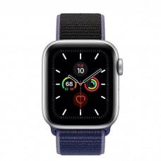 Apple Watch Series 5 40mm Silver Aluminium Case with Midnight Blue Sport Loop (MX3N2)