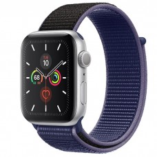 Apple Watch Series 5 44mm Silver Aluminium Case with Midnight Blue Sport Loop (MX3Q2)