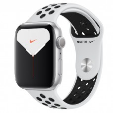 Apple Watch Series 5 Nike+ 44mm GPS Silver Aluminum Case with Pure Platinum/Black Nike Sport Band (MX3V2)