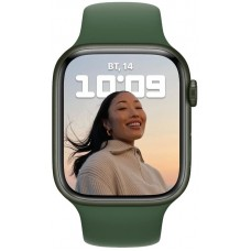 Apple Watch Series 7 45mm GPS Green Aluminum Case With Green Sport Band