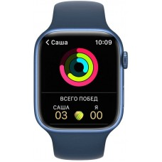 Apple Watch Series 7 41mm GPS Blue Aluminum Case With Blue Sport Band