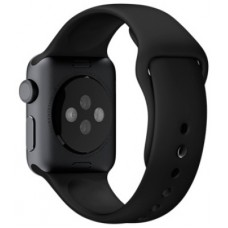 Ремінець 38mm Black Sport Band with Space Gray Stainless Steel Pin