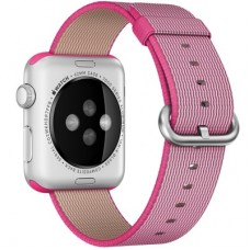 Ремешок Apple WATCH 38mm Woven Nylon Band Pink MM9P2