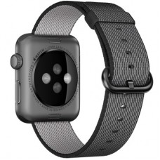Ремешок Apple WATCH 42mm Woven Nylon Band Black MM9Y2