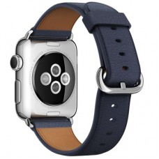 Ремешок Apple WATCH 38mm Midnight Blue Classic Buckle MMAG2