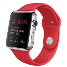 Watch 42mm Stainless Steel з ремінцем (PRODUCT) RED Sport Band (MLLE2)