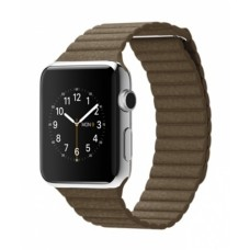 Watch 42mm Stainless Steel з ремінцем Light Brown Leather Loop (MJ402)