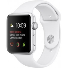Apple Watch 38mm Series 1 Silver Aluminum Case with White Sport Band (MNNG2)