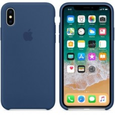 iPhone X Silicone Case - Blue Cobalt