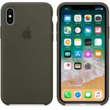 iPhone X Silicone Case - Dark Olive