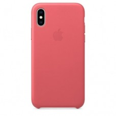 iPhone XS Max Leather Case — Peony Pink