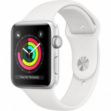 Apple Watch Series 3 38mm GPS Silver Aluminum Case with White Sport Band (MTEY2)
